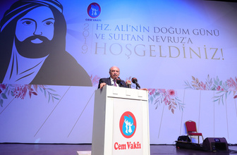"""Başkan Uysal, Cem Vakfının düzenlediği """"Hz. Ali'nin Doğumu ve Sultan Nevruz Bayramı"""" programına katıldı"""