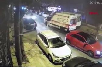 Bakırköy'de ambulans şoförüne darp anı kamerada