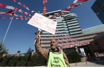 CHP Genel Merkezi önünde eylem