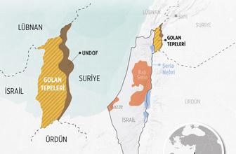 Golan tepeleri gerçekte kimin? Haritaya bakın İsrail bu yüzden istiyor