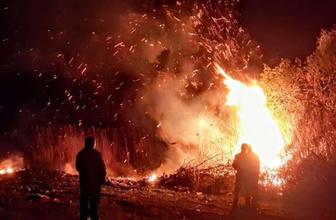 İznik'te yangın bazı evler boşaltıldı