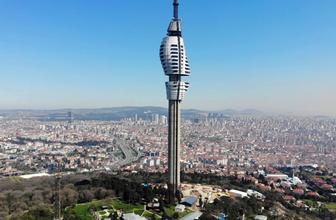 Çamlıca Kulesi son durum 4. büyük parça monte edildi