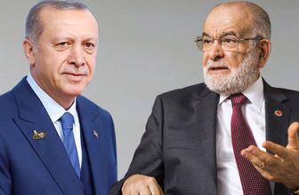 Cumhurbaşkanı Erdoğan Temel Karamollaoğlu'nu aradı!