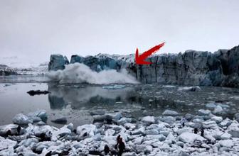 Buzul kırıldı! Son anda böyle kaçtılar