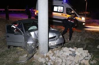 Aksaray'da feci kaza! Otomobil şarampole uçtu