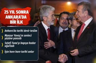 Ankara'da bir devir sona erdi Mansur Yavaş artık Belediye Başkanı