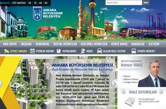 Ankara'da devir teslim sonrası belediyenin sitesi de değişti