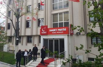 Saadet Partisi Genel Merkez binasına haciz geldi bina boşaltıldı