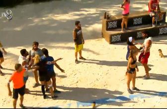 Sude ve Büşra yarışırken iki takım bench'te tartıştı