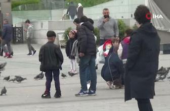Taksim'de zabıtadan dilencilik yapan çocuklara operasyon