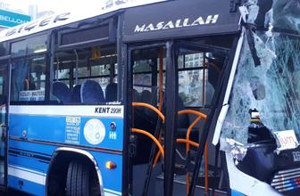 Ankara'da özel halk otobüsü çöp arabasına çarptı: 10 yaralı