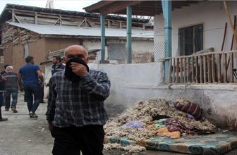Erzincan'da Töhve anayı hüngür hüngür ağlatan yangın
