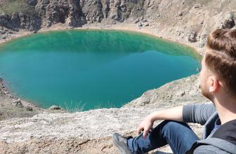 Sivas'ın nazar boncuğu bu göl görenleri şaşırtıyor