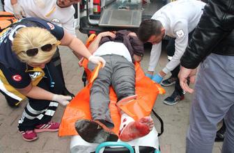 Bilecik'te 3 kişinin yaralandığı olay sonrası yaşananlar güvenlik kamerasına yansıdı