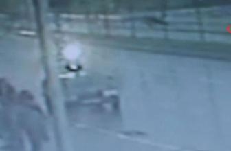 Çankırı'da dehşete düşüren kaza kamerada