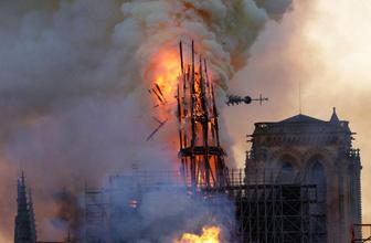 Macron, Notre Dame'ın yeniden inşası için tarih verdi