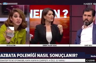 Haber Global canlı yayınında mazbata tartışması