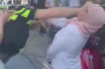 Hollanda polisinden başörtülü kadına tekme tokat dayak!