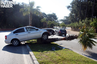 Trafik kazasının ardından hareketli anlar