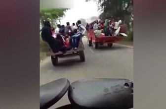 Sollamanın bedeli ağır oldu! Yolcuların bulunduğu traktör devrildi