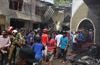 Sri Lanka'da kilisedeki patlama anı kamerada