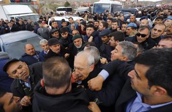 Kılıçdaroğlu'na şehit cenazesinde saldırı! Olay görüntüler