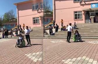Engelli öğrencisiyle dans eden öğretmen Çağlar Özdemir TT listesinde