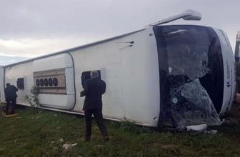 Tokat'ta yolcu otobüsü devrildi: 7 ölü, 30 yaralı