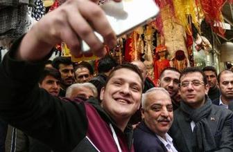 İBB Başkanı İmamoğlu Ramazan alışverişi için Eminönü'nde!