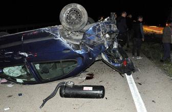 Kırıkkale'de otomobil devrildi: 1 ölü 4 yaralı