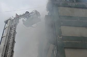 Başakşehir'de deri fabrikasında korkutan yangın