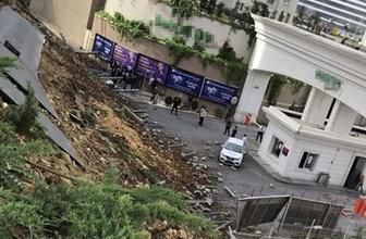 Başakşehir'de istinat duvarı çöktü