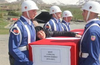 Şehit Volkan Demirci memleketi Ordu'ya ağlatan bir törenle uğurlandı