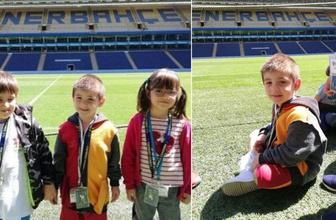 Fenerbahçe stadına Galatasaray polarıyla giden minik taraftar olay oldu
