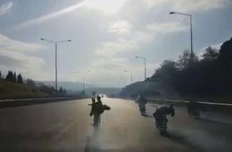 Bursa'da ölüm yarışı kamerada