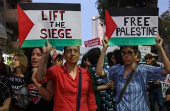 İsrail'in başkentinden Gazze'ye destek