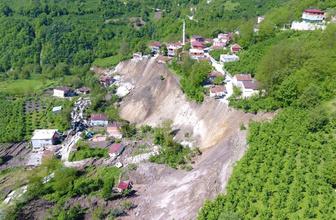 Ordu'da heyelanın yok ettiği mahalle havadan görüntülendi