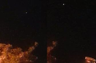 Bursa'da UFO gördüm dedi o anları böyle kaydetti