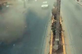 Meksika'da bir otelde meydana gelen patlama anı kamerada