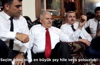 Yıldırım'dan bomba seçim hilesi açıklaması