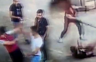 Kütahya'da korkunç görüntüler Döner bıçağı ile saldırdı