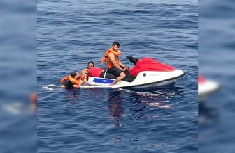 Muğla Bodrum'da Filistinli kaçaklar jet-ski ile yakalandı