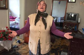Evini lağım suyu basan yaşlı kadının gözyaşları yürek burktu