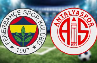 Fenerbahçe Antalyaspor maçı hangi kanalda saat kaçta? (Muhtemel 11'ler)