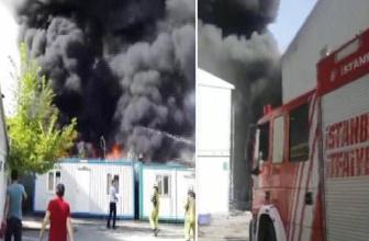 Alibeyköy metro istasyonunda yangın