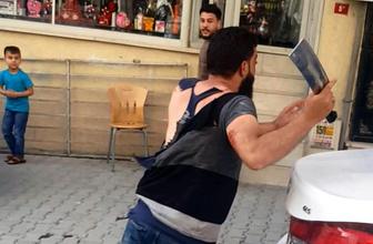 Esenyurt'ta bıçaklı satırlı sandalyeli kavgada dehşet anları