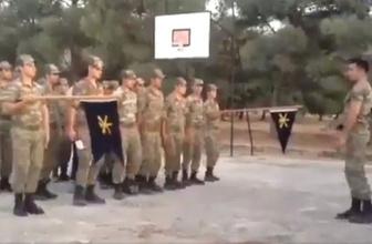 İçtimada Sedat Peker sloganları! askerlerin videosu olay oldu
