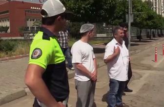 Adana polisinden sürücüye empati cezası