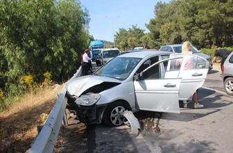 Bodrum'da bayram tatili kazalarla başladı, 4 araç birbirine girdi