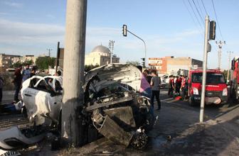 Nusaybin'de trafik kazası, 1 yaralı
